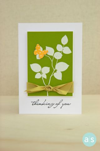A Muse Studio Beautiful Botanicals 2 green leaf card