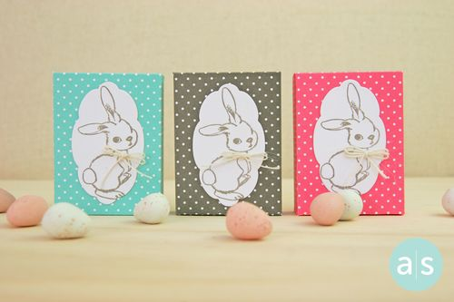 A Muse Studio Candy Box with Stamped bunny three horizontal