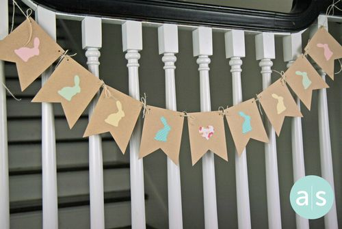 A Muse Studio Easter Kraft Bunny Banner hx