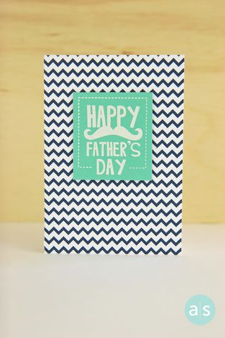 A Muse Studio Happy Father's Day navy chevron