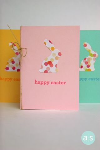 A Muse Studio big bunny easter cards in three colors
