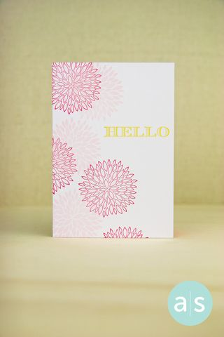 A Muse Studio Modern Zinnia plus Say it With Style Hello