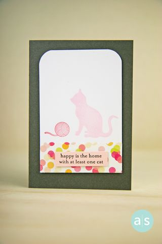A Muse Studio At Least One Cat Happy Is the Home card