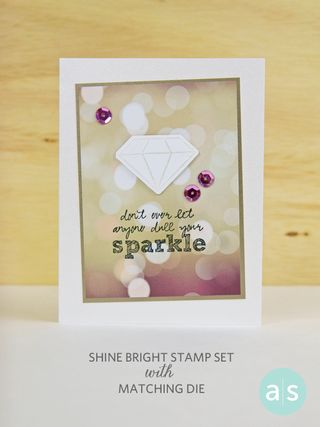 A Muse Studio Shine Bright stamp set and matching die