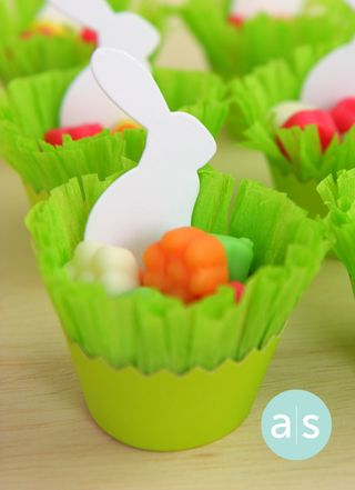 A Muse Studio cupcake wrapper candy holder. close up