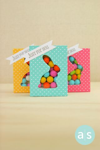 A Muse Studio Candy Box Die with bunny cut out trio