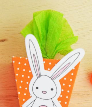 A Muse Studio Pyramid Box as carrot box for Easter treat only one