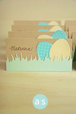 A Muse Studio Easter place cards vert