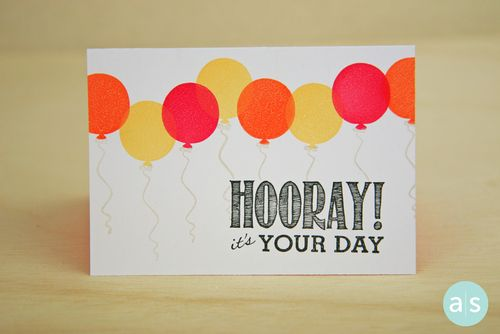 A Muse Studio Hooray It's Your Day May 2014 Birthday Hostess EXCLUSIVE stamp se balloonst