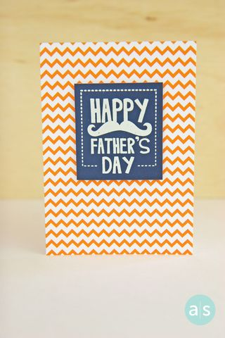 A Muse Studio Happy Father's Day Orange chevron