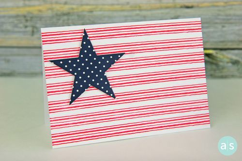 A Muse Studio Stripes and Star card