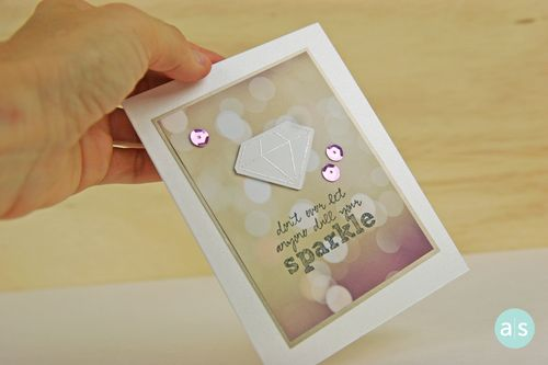 A Muse Studio Shine Bright stamp set and matching die sparkle