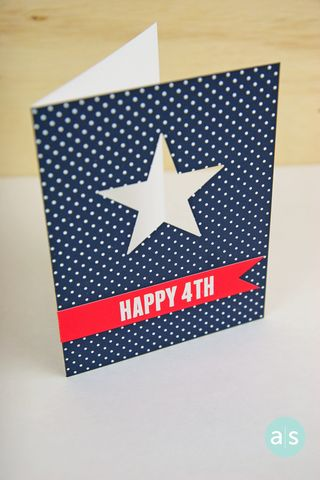 A Muse Studio Happy 4th of July Card view die cut