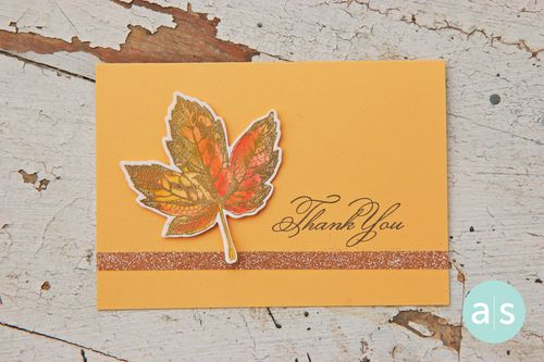 A Muse Studio Let us be Thankful - watercolor leaf with Splash inks