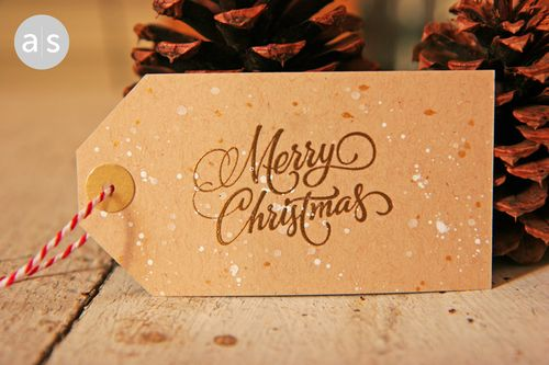 A Muse Studio A Handwritten Holiday Gift Tags Swirly Merry Christmas