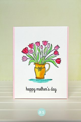 A Muse Studio February Collection Happiness Blooms watercolor card