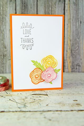 A Muse Studio Love and Thanks watercolor flower