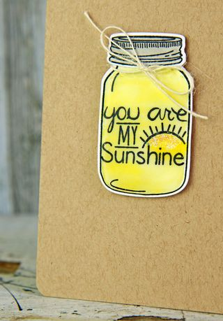A Muse Studio Mason Jar Be Brave You are My Sunshine zoom