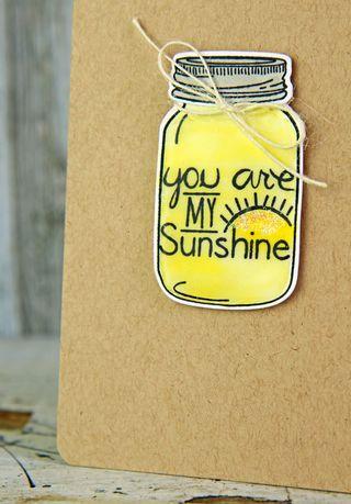 A Muse Studio Mason Jar Be Brave You are My Sunshine zoom