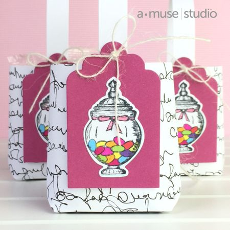 A Muse Studio mini gift bag tutorial finished bag - three