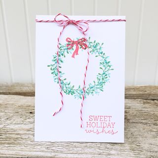 A Muse Studio Festive Wreath - Evergreen and Mermaid