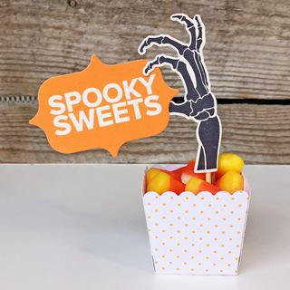 A Muse Studio Open If You Dare - tiny popcorn box spooky sweets