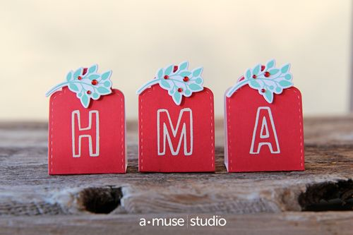 A Muse Studio Five Points Alphabet Place Card Candy Packages x3