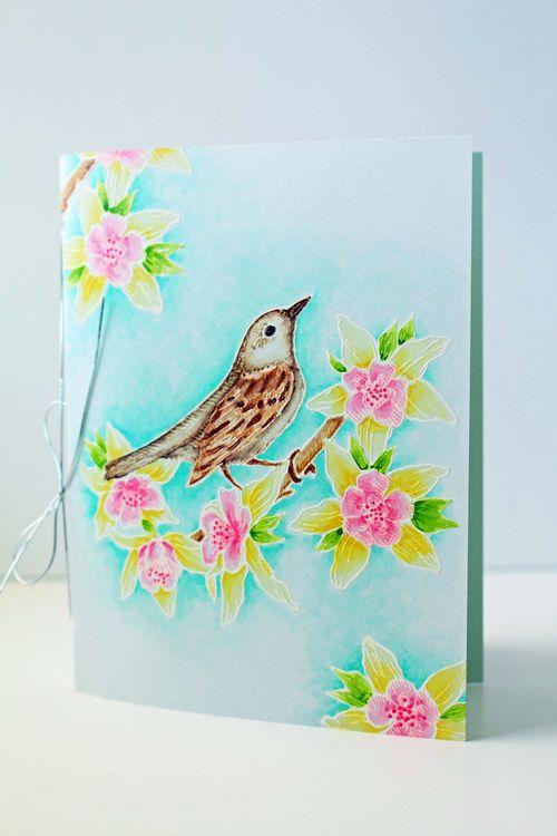 Vintage Bird Velum Card