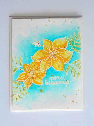 Tropical Blooms Resist Watercolor