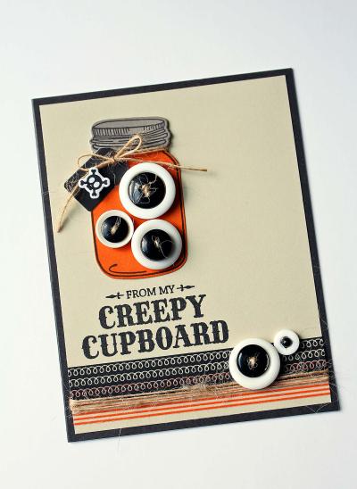 Creepy Cupboard Mason Jar