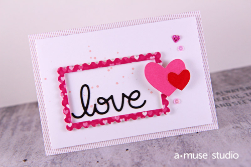 A Muse Studio GCE frame love with hearts