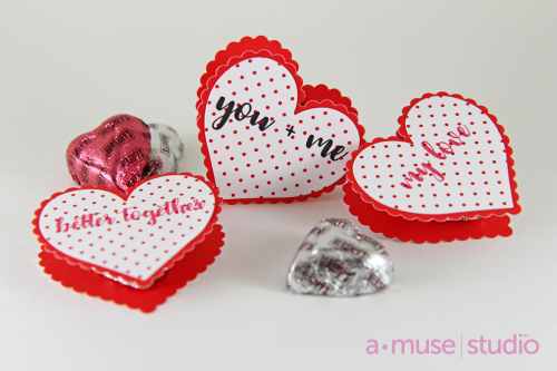 A Muse Studio Love Story Heart sandwiches