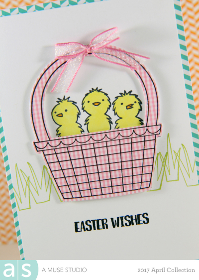 A Muse Studio Sweet Easter 3 chicks in basket Zoom