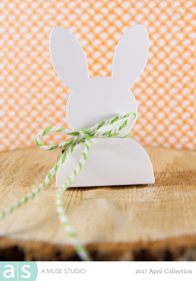 Bunny Candy Package on wood