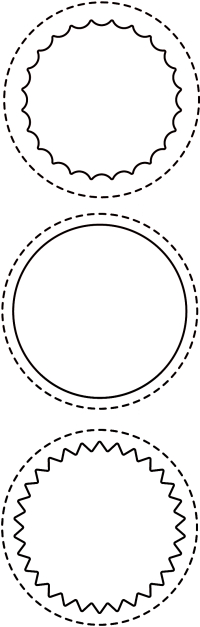 Stitched Circle Window dies