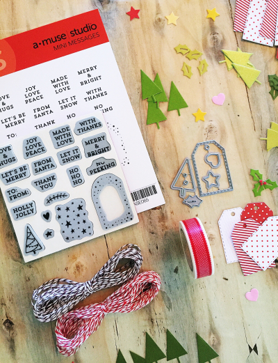 Mini Messages Tag Kit photo with die cuts