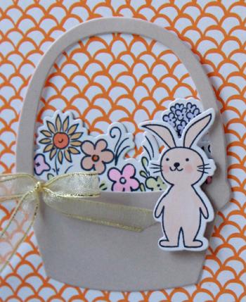A Muse Studio Sweet Easter basket orange zoom