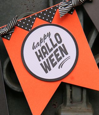 A Muse Studio Fishtail Banner Kick Up Your Heels Happy Halloween Really Close Up