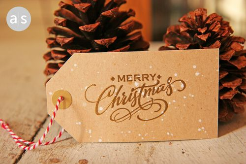 A Muse Studio A Handwritten Holiday Gift Tags Merry Christmas Diamonds
