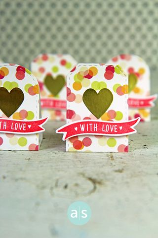 A Muse Studio J15 Candy Packages With Love and Gold Heart Sticker VT