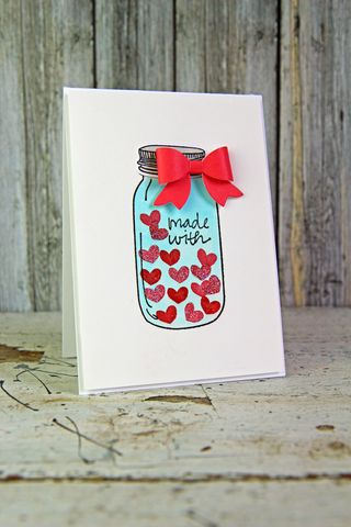 A Muse Studio Mason Jar Made with Love
