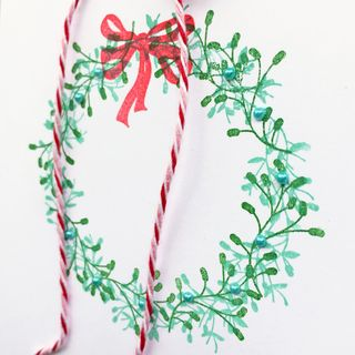 A Muse Studio Festive Wreath - Evergreen and Mermaid zoom