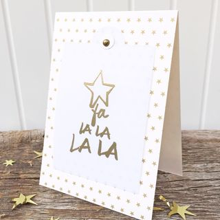 A Muse Studio Twinkle Light Season - Fa la la la gold embossed