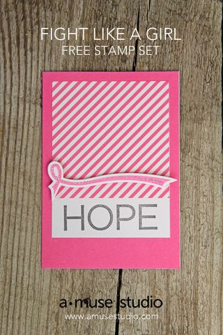 A Muse Studio Fight Like a Girl free stamp set - HOPE