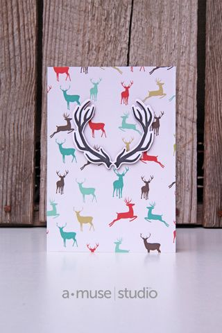 A Muse Studio November 15 Collection - Hello Deer on 6x6 deer