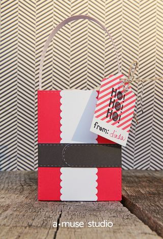 A Muse Studio Santa Treat Bag