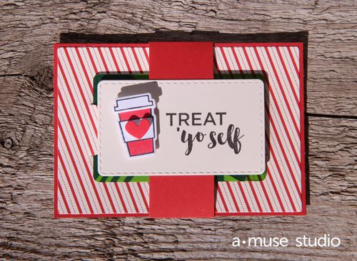 A Muse Studio Meal Plan Gift Card Holder assembled