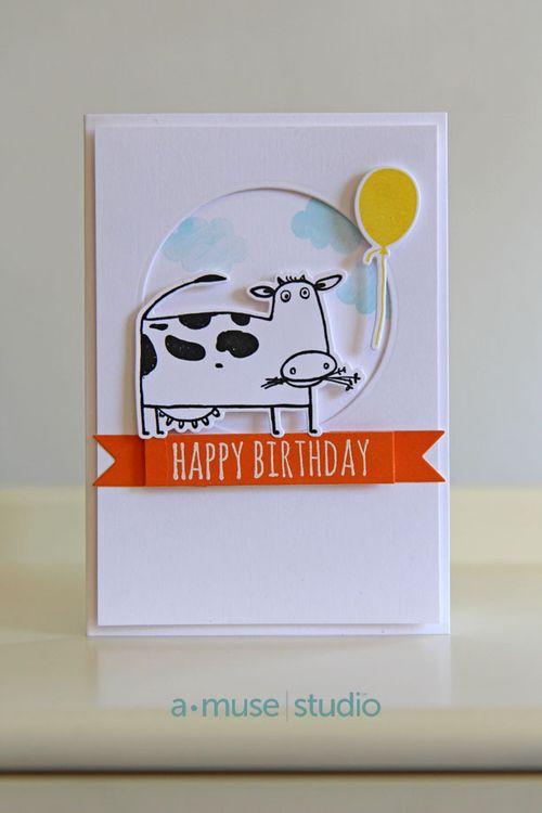 A Muse Studio Go Hog Wild - Happy Birthday Cow