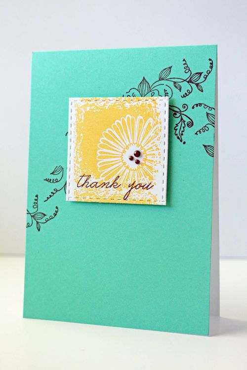 Floral Blocks Card Catalogue Tag Die