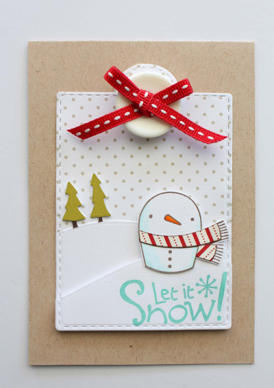 Merry Christmas Sweetie Snowman A1